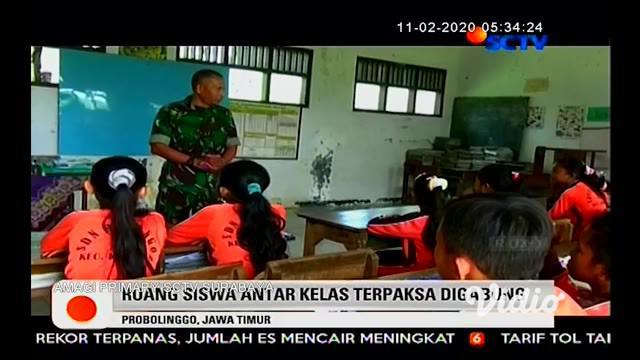 Puluhan siswa Sekolah Dasar Negeri di Kabupaten Probolinggo Jawa Timur, terpaksa belajar di area parkir karena gedung sekolah rusak dan nyaris ambruk. Ironisnya kerusakan gedung sekolah terjadi sejak dua tahun yang lalu dan hingga kini belum ada perb...