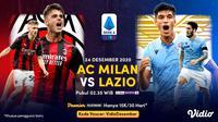 Live streaming big match Serie A: AC Milan vs Lazio, Kamis (24/12/2020) pukul 02.45 WIB dapat disaksikan melalui platform Vidio. (Dok. Vidio)