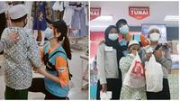 Momen Glenca Chysara ajak anak-anak yatim belanja baju di mall. (Sumber: Instagram/@glencachysaraofficial)