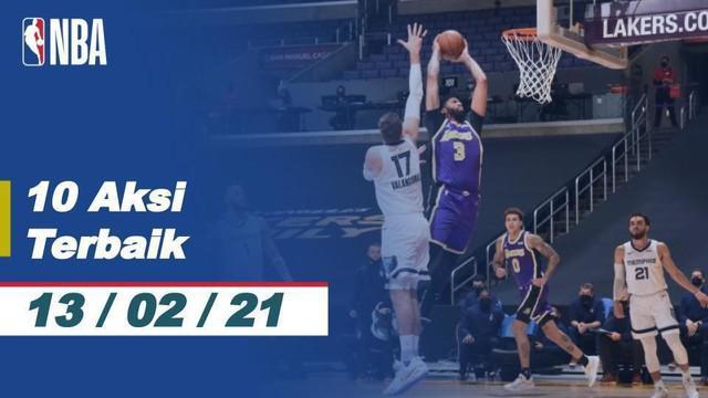 Berita video 10 aksi terbaik NBA pada tanggal 13 Februari 2021, salah satunya aksi slam dunk dari Kawhi Leonard.