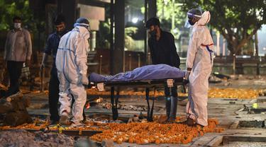 Aktivitas Krematorium Saat Gelombang Kedua Corona di India