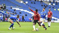 Marcus Rashford mencetak gol untuk MU saat melawan Brighton (AP)