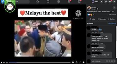Gambar Tangkapan Layar Video yang Diklaim Menag Yaqut Diusir Warga (sumber: Facebook)