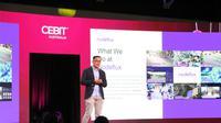 Richard Dharmadi, Group Product Manager Nodeflux, mewakili Nodeflux menjadi pembicara di konferensi internasional IT CeBIT (Foto: Nodeflux)