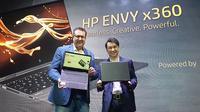 President Director HP Indonesia David Tan (kiri) dan Consumer Sales Director AMD Asia Pasifik dan Jepang Peter Chambers (Liputan6.com/ Agustin Setyo W).