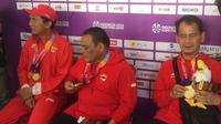 Tim catur Indonesia di Asian Para Games 2018. (Bola.com/Benediktus Gerendo Pradigdo)