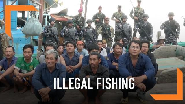 Tiga kapal berbendera Vietnam ditangkap di Kepulauan Natuna. Ketiganya melakukan penangkapan ikan ilegal di perairan Indonesia.
