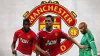 Manchester United - Wilfried Zaha, Michael Owen, Lee Grant (Bola.com/Adreanus Titus)