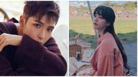 Momen kebersamaan Ryeowook dan Ari eks TAHITI. (Sumber: Instagram/@popstar_ari/@superjunior)