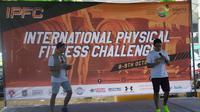 Perhelatan International Physical Fitness Challenge di Lapangan Parkir Econvention, Taman Impian Jaya Ancol, Jakarta Utara, Minggu (9/10/2016). (