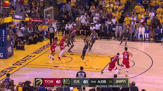 Berita video highlights game 4 Final NBA 2019 di mana Toronto Raptors menang 1-5-92 atas Golden State Warriors di Oracle Arena, Oakland, California, Minggu (8/6/2019) pagi WIB.