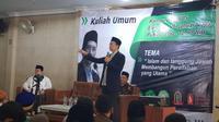 Mantan Gubernur Nusa Tenggaran Barat (NTB) TGB Zainul Majdi saat menyampaikan kulian umum di Bandung, Jawa Barat (Istimewa)