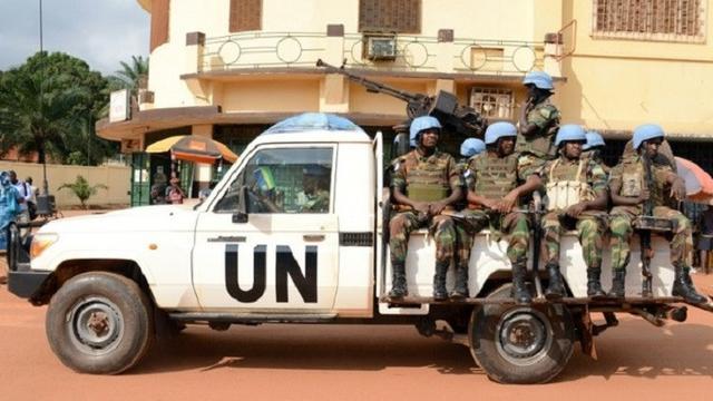 Pasukan patroli penjaga perdamaian PBB di Bangui, Republik Afrika Tengah (AFP)