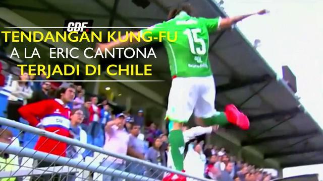 Video kekerasan yang dilakukan Sebastian Pol striker Argentina di LIga Chile mirip dengan tendangan kung-fu Eric Cantona pada tahun 1995.