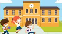Banner Infografis Rencana Sekolah Dibuka Lagi Juli 2020. (Liputan6.com/Trieyasni)