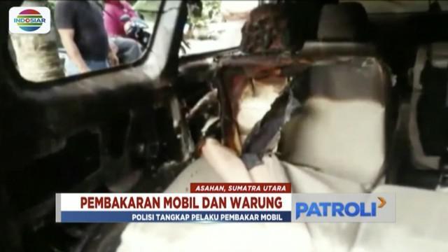 Lampiaskan frustasi, seorang pria di Asahan, Sumatra Utara membakar enam mobil dan satu warung.