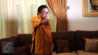 Oesman Sapta mengatakan bahwa saat dirinya berencana maju sebagai calon ketua umum Hanura, banyak yang ikut bergabung ke Hanura sehingga menambah kekuatan politik di pemilu dan Pilkada mendatang, Jakarta, Kamis (22/12). (Liputan6.com/Johan Tallo)