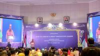 Direktur Utama BPJS Ketenagakerjaan Agus Santoso hadiri seminar bertajuk How to Create a Great Innovative Leader pada Rabu (13/3/2019) (Foto: Liputan6.com/Maulandy R)