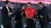 Menteri Pemuda dan Olahraga (Menpora) Zainudin Amali saat Launcing Shopee Liga 1 2020 di Hotel Fairmont, Jakarta, Senin (24/2/2020). Shopee Liga 1 2020 yang berlangsung pada 29 Februari hingga 1 November 2020 tersebut diikuti 18 klub terbaik Indonesia. (Liputan6.com/Johan Tallo)