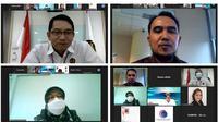 Rapat Pembahasan Implementasi Teknologi Waste To Energy bersama Komisi Pemberantasan Korupsi (KPK) secara virtual.