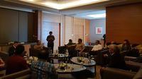 Pertemuan Jack Ma dengan Menkominfo Rudiantara dan jajaran menteri RI lain di Jakarta. Liputan6.com/Agustinus Mario Damar