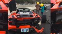 Kecelakaan McLaren (Twitter/Motorious)