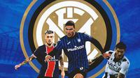 Inter Milan - Leandro Paredes, Robin Gosens, Rodrigo De Paul (Bola.com/Adreanus Titus)