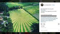 Lapangan Bola di Desa Geparang, Kecamatan Purwodadi, Kabupaten Purworejo. (Liputan6.com/Instagram @jak_independent)