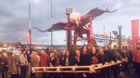 Pembakaran ogoh-ogoh menjadi puncak acara Festival Dark Mofo, di Hobart, Tasmania, Australia. (dok. Kementerian Pariwisata/Dinny Mutiah)