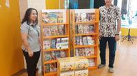 HokBen  Memberikan Sumbangan Rak Buku dan Ribuan Buku Bacaan. foto: istimewa