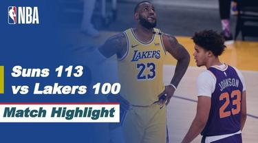 Berita video highlights NBA, Phoenix Suns kalahkan LA Lakers di Play-off NBA dengan skor 113-100, Jumat (4/6/21)