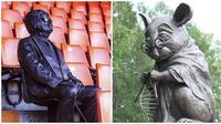 Patung The Loyal Fans dan Knitting Mouse (Sumber: brightside)
