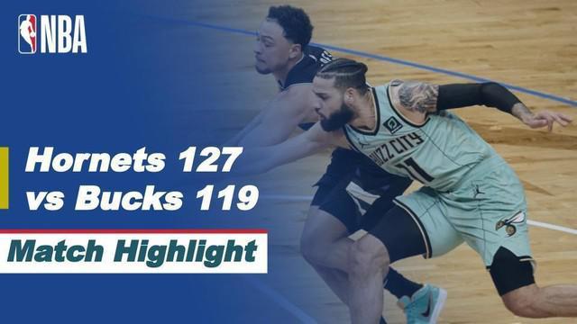 Berita Video Highlights NBA, Charlotte Hornets Raih Kemenangan di Milwaukee Bucks 127-119