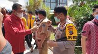 Bamsoet usai bertemu Calon Petahana Gubernur Sulawesi Utara Olly Dondokambey bersama jajaran pengurus Dewan Pimpinan Nasional SOKSI, di Manado, Selasa (17/11).