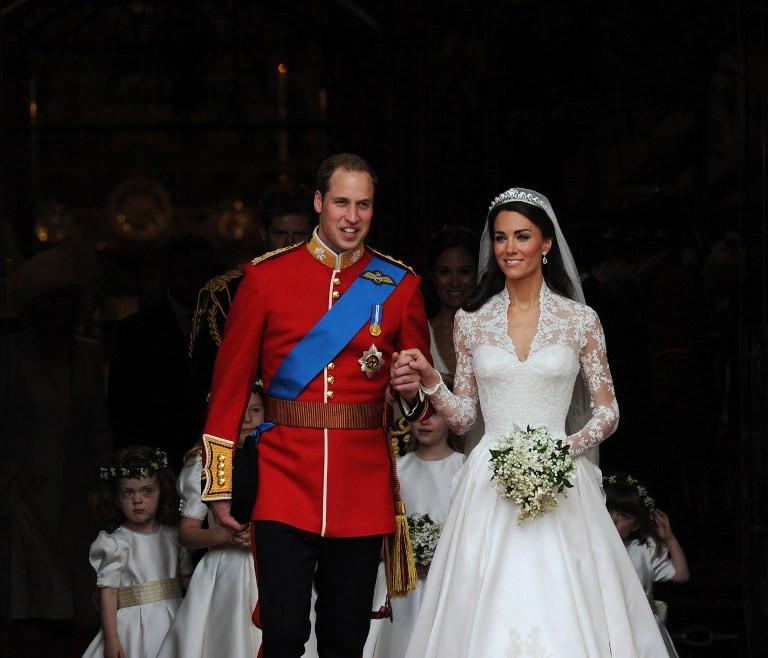 Pernikahan Pangeran William dan Kate Middleton. (Foto: AFP)