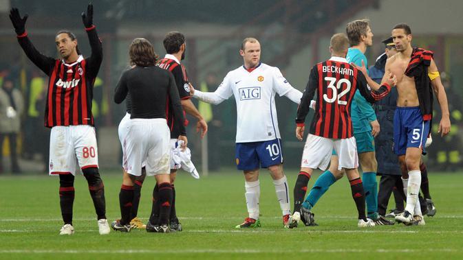 Man United Vs Milan Hasil Imbang di Babak Pertama