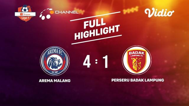 Laga lanjutan Shopee Liga 1, Arema Malang VS Badak Lampung berakhir  2-0 #shopeeliga1 #Arema Malang #Badak Lampung