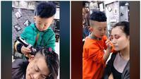 Jiang Hogqi mahir menata rambut dan menata rias (dok. Kaishou/https://live.kuaishou.com/u/3x7za2hk2yk63vq/3x7kexz8z8h47n2/Fairuz Fildzah)