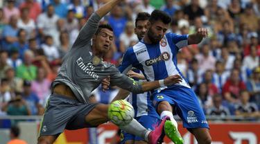 Cristiano Ronaldo tampil luar biasa dengan mencetak 5 gol di kandang Espanyol saat Real Madrid melumat lawannya tersebut dengan skor 6-0 pada Sabtu (12/9/2015).