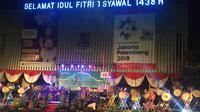Gubernur DKI Jakarta Djarot Saiful Hidayat buka festival lomba pukul beduk dalam menyambut malam 1 Syawal 1438 H. (Liputan6.com/Taufiqurrohman)