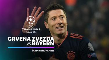 Berita Video Highlights Liga Champions, Crvena Zvezda vs Bayern Munchen 0-6