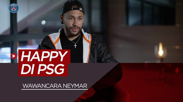 Berita video wawancara singkat Neymar. Pemain incaran Barcelona dan Real Madrid itu melakukan wawancara dengan PSG