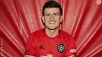 Bek anyar Manchester United (MU) Harry Maguire. (twitter.com/ManUtd)