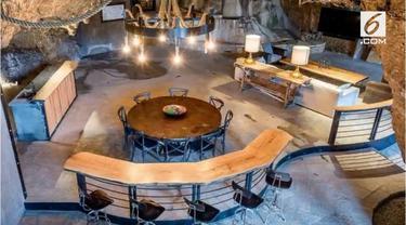Dulunya, gua yang diberi nama Beckham Creek Cave Lodge ini dibangun sebagai tempat penampungan bom. Gua itu telah direnovasi menjadi hotel mewah yang mampu menampung 8 tamu.