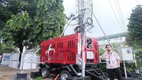 Telkomsel menyiagakan dua unit Compact Mobile BTS (COMBAT) di sekitar kawasan komplek GBK sebagai bentuk kesiapan mendukung Asian Games 2018 (Foto: Telkomsel)