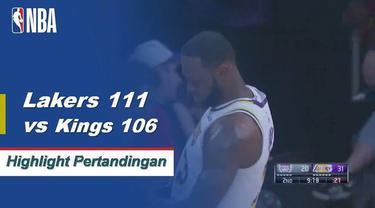 Kyle Kuzma mencetak 29 poin saat Lakers mendapatkan kemenangan atas Kings 111-106.