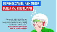 Merokok sambil naik motor, siap-siap denda Rp750 ribu