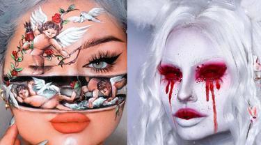 Kreatif, Penata Rias Asal Norwegia Ini Hasilkan Ilusi Makeup yang Tak Biasa