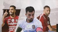 Willian Pacheco, Stefano Lilipaly dan Ilija Spasojevic. (Bola.com/Dody Iryawan)