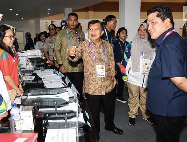Ditemani Ketua Inasgoc, JK Tinjau Media Center Asian Games 2018